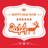 Happy new year 2014 card19. Happy new year card for everyone Stock Images