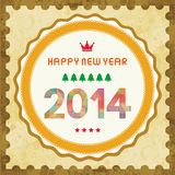 Happy new year 2014 card40. Happy new year card for everyone Royalty Free Stock Image
