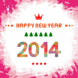 Happy new year 2014 card51. Happy new year card for everyone Royalty Free Stock Photo