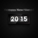 Happy new year. 2015 card. Flip clock Stock Photography