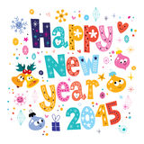 Happy New year 2015 card. Happy New year 2015 greeting card Royalty Free Stock Images