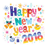 Happy New year 2018 card Royalty Free Stock Photography
