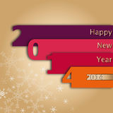 2014 Happy New Year Card Royalty Free Stock Photo