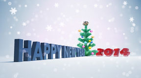 Happy new year 2014 card. Greeting cards for  happy new year 2014 Royalty Free Stock Photo
