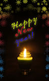 Happy New year card with greeting Stock Images