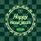 Happy New Year Card greeting illustration, vector  Royalty Free Stock Photography