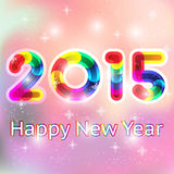 Happy New Year 2015 card. Happy New Year 2015 greeting card or poster design Royalty Free Stock Photography