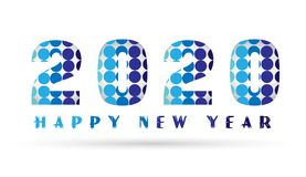 2020 Happy New Year 2020 card and greeting text design bacground. 2020 Happy New Year 2020 card and greeting text design background in ai10 additional vector on Royalty Free Stock Photography
