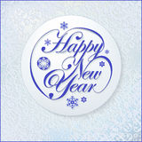 Happy New Year card. New Year greeting card, Winter abstract background. EPS8 may be scaled whiteout losses Stock Photo