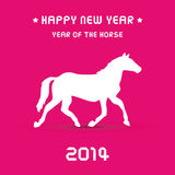 Happy new year 2014 card23. Happy new year 2014 card. Year of the Horse Stock Photography