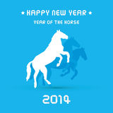 Happy new year 2014 card24. Happy new year 2014 card. Year of the Horse Royalty Free Stock Photo