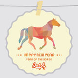 Happy new year 2014 card42. Happy new year 2014 card. Year of the Horse Royalty Free Stock Photography