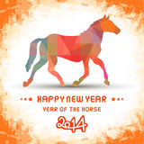 Happy new year 2014 card46. Happy new year 2014 card. Year of the Horse Stock Photography