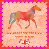 Happy new year 2014 card47. Happy new year 2014 card. Year of the Horse Stock Photos