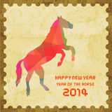 Happy new year 2014 card49. Happy new year 2014 card. Year of the Horse Royalty Free Stock Photography