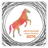 Happy new year 2014 card39. Happy new year 2014 card. Year of the Horse Royalty Free Stock Photography