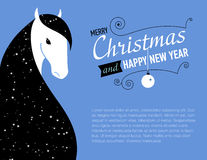 Happy new year card for 2014  of Horse. Happy new year card for 2014 year of Horse Royalty Free Stock Photo