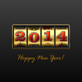 Happy New Year 2014 card. Illustration Royalty Free Stock Photo