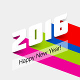 Happy New Year 2016 card. Illustration Royalty Free Stock Photo