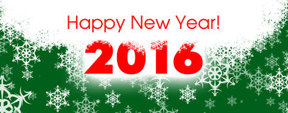 Happy new year card 2016 Stock Photography