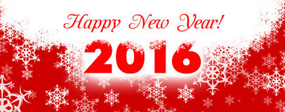 Happy new year card 2016 Royalty Free Stock Image