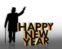 Happy New Year card invitation stock photos