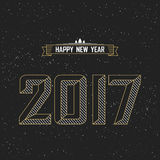 Happy new year 2017 card or invitation Stock Image