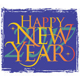 Happy New Year 2017 Card with Lettering Composition. Stock Photography