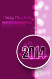 Happy new year 2014 card from light background Stock Image