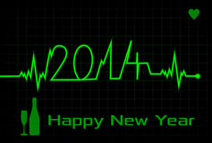 Happy New Year card made from EKG Royalty Free Stock Images