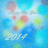 Happy New Year 2014 Card. Merry Christmas and Happy New Year Card Stock Image