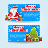 Happy New Year Card. Merry Christmas. banners set Stock Images