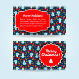 Happy New Year Card. Merry Christmas. banners set Royalty Free Stock Photo