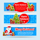 Happy New Year Card. Merry Christmas. banners set Stock Photo