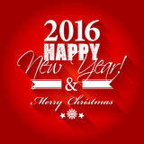 2016 Happy New Year and card Merry Christmas card or background. Stock Photo