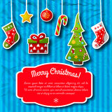 Happy New Year Card. Merry Christmas Royalty Free Stock Photography