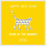 Happy new year card6 Royalty Free Stock Image