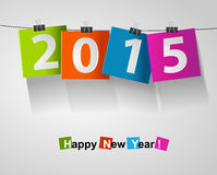 Happy new year 2015 card. Happy new year 2015 paper eps10 vector illustration Stock Images