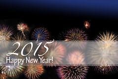 Happy New Year 2015 card Royalty Free Stock Photos