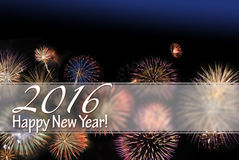 Happy New Year 2016 card and web banner Stock Photos
