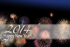Happy New Year 2014 card Royalty Free Stock Image