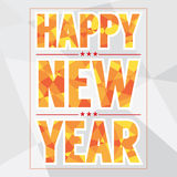 Happy New Year Card Polygon Style Stock Photo