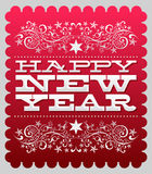 Happy new year - card - poster template Royalty Free Stock Images