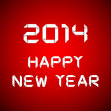 2014 Happy new year card. Red background Stock Photo