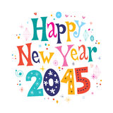 Happy New year 2015 card. Happy New year 2015 retro greeting card Stock Image