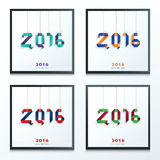 Happy New Year Card set. Vector design and template design eps10 stock illustration