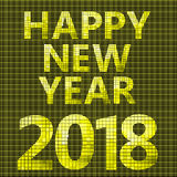2018 Happy new year card. With tiles backgrounds Stock Image