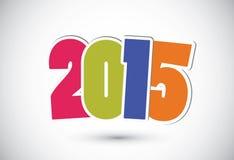 Happy new year 2015 card. Vector stock illustration