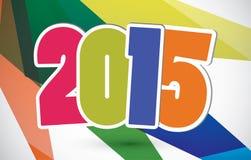 Happy new year 2015 card. Vector Royalty Free Stock Photo