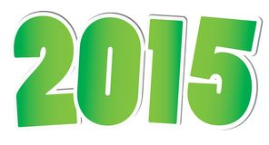 Happy new year 2015 card. Vector Stock Photography